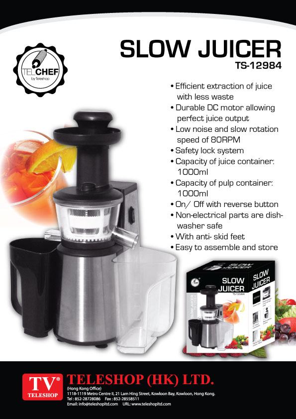 Slow Juicer Frozen Yogurt : Tv Teleshop - Household Kitchenware Kitchen E-tel Personal care Body massage ...